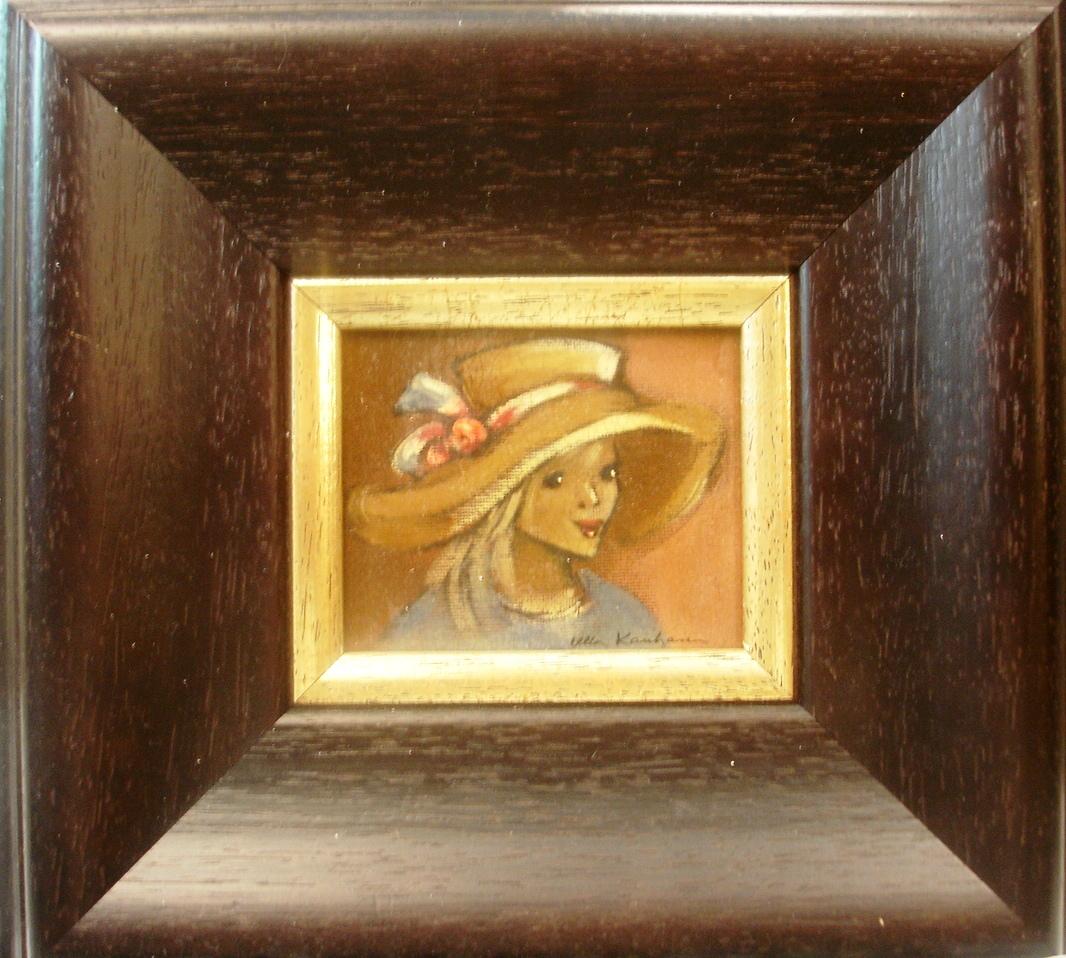 Hattupäinen tyttö ©Ulla Kauhanen