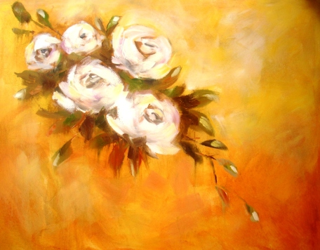 Valkoiset ruusut ©Ulla Kauhanen