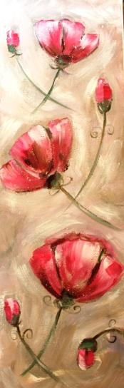 ulla kauhanen pinkit kukat pysty